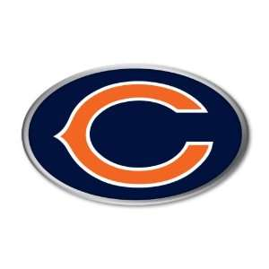 Chicago Bears NFL Football Team Color & Chrome Decal Sticker Car Truck