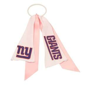 New York Giants Ribbon Pony Tail Holder   Pink Sports