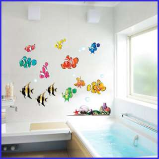 wall decor stickers mural decals art tropical fish 19.7x27.5 vinyl