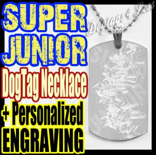 Super Junior ★ SuJu ★ Photo Dog tag Pendant Necklace