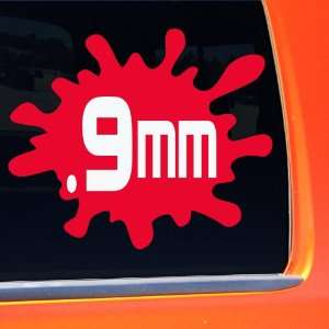 9mm Blood Splatter Handgun Bullet Sticker pro gun control