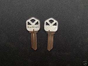 10 Original KWIKSET KW 1 Key Blanks