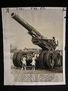 Fort Benning GA 8 Inch Howitzer Gun Post WW2 Photo 167G