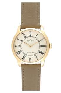 AK Anne Klein Round Dial Leather Strap Watch