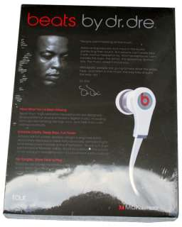 MONSTER BEATS Dr. DRE IN EAR HEADPHONES EARPHONES TOUR EDITION   WHITE
