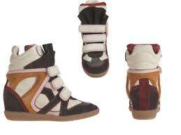 NIB ISABEL MARANT WILLOW ANTHRACITE/BORDEAUX HIGH TOP SNEAKER Sz 37
