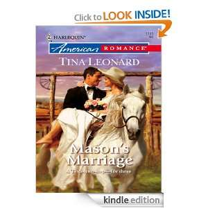 Masons Marriage (Harlequin American Romance): Tina Leonard:
