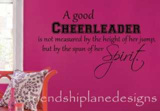 GOOD CHEERLEADER vinyl wall decal/sticker/quote/words 16X30 22X40