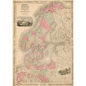 Antique Map of Prussia, Sweden, Norway & Denmark