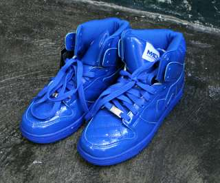 Mens Sneakers SKATEBOARD High Top Shoes SS031 Blue Sz