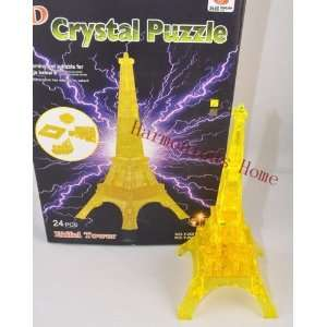 eiffel tower 3d crystal puzzles 24 pcs with flashing light eiffel