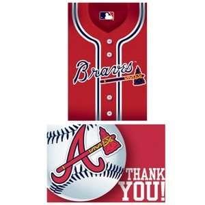 Atlanta Braves Baseball   Invite & Thank You Combo Toys