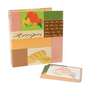 Recipes 3 Ring Scrapbook Kit 5X7 Recipe Cards
