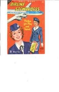 VINTGE AIRLINE STEWARDESS PAPER DOLLS LZR RPRO ORG SZ