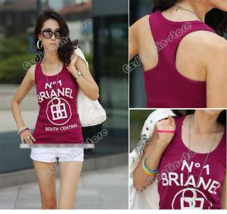 Womens Mini Sleeveless T Shirt Girls Tank Tops Ladies Cami Waistcoat