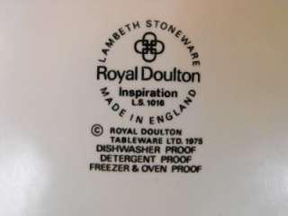 Royal Doulton Lambeth Stoneware Inspiration Plate