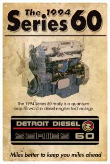 DETROIT DIESEL SERIES 60 VINTAGE TIN SIGN