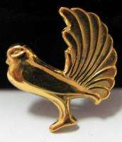 Vintage CORO gold plated sterling DOVE PIGEON BIRD Brooch