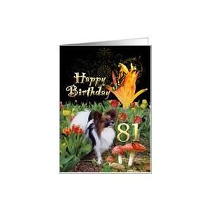 Butterfly Papillon dog tulip garden lady bug Happy 81
