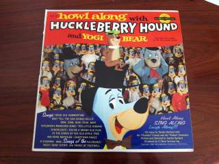 HUCKLEBERRY HOUND Yogi Bear Howl along Golden record Hanna Barbera