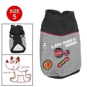 com Como Skateboard Skull Prints Button Under Neck Black Gray Pet Dog