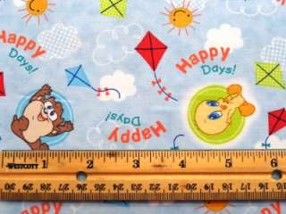Looney Tunes Fabric BTY Bugs Bunny Taz Tweety Bird VIP Cartoon