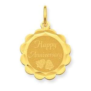 14k Happy Anniversary Charm [Jewelry]: Home & Kitchen