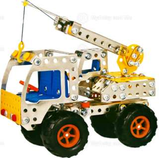 Large Tow Truck Metal Model Construction Kit Childs Toy
