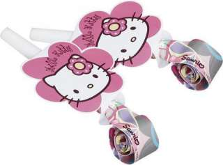 Hello Kitty Pink Stars Birthday Party Loot Bags x 8