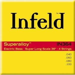 Infeld Bass Guitar Strings Infeld Super Alloy 36 4 String Set