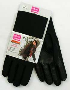 New Womens Soft Fleece Lined Stretch Dress Winter Driving Gloves Black