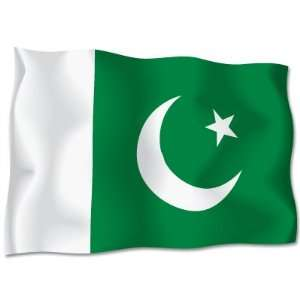 PAKISTAN Flag car bumper sticker decal 6 x 4