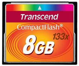 Transcend 8 GB 8GB 133x Compact Flash CF Memory Card