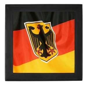 Keepsake Box Black German Flag Waving