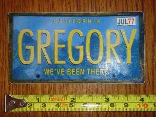 GREGORY Backpack License Plate STICKER Decal