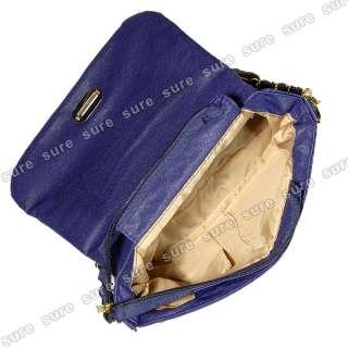 Blue UK England Britain Flag Union Jack Badge Chain Shoulder Handbag