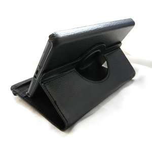 FINTIE(TM) Black 360° Rotating PU Leather Case Cover w/ Swivel Stand