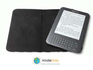 100% Cowhide BROWN Leather Case for Kindle Keyboard 3G Wi Fi w/Offers