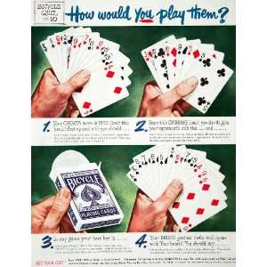 Canasta Cribbage Bridge Cincinnati Ohio Game Box   Original Print Ad