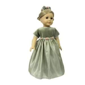 American Girl Doll Clothes Green Formal Dress Toys