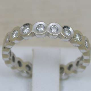 18 CARATS 14K SOLID WHITE GOLD NATURAL VVS WHITE DIAMOND ETERNITY