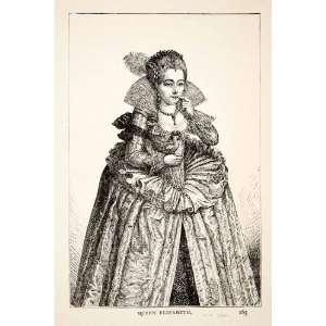 1903 Print Queen Elizabeth I Portrait Costume England