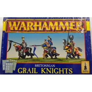 Warhammer Bretonnian Grail Knights Metal Minatures: Toys & Games