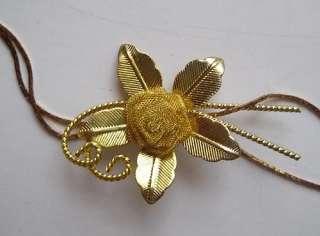 Pin Brooch Necklace FLOWER POWER Jewelry Lot Rhinestone Enamel Vintage