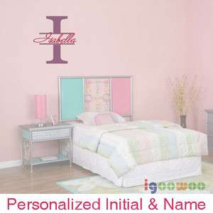Personalized Name & Initial Vinyl Wall Decal Sticker M HW009