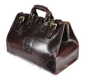 Mens VINTAGE LEATHER Travel Luggage Bag Duffle Gym Carry On