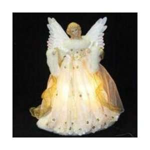 Gold Fiber Optic Animated Angel Christmas Tree Topper: Home & Kitchen