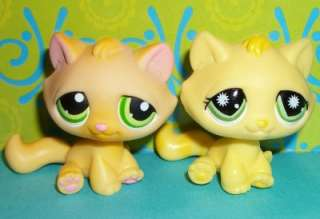 LPS TABBY KITTY CAT LOT~#94 ORANGE & #920 YELLOW~Littlest Pet Shop
