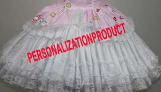 Sweet Gothic Lolita pink Cosplay Hello Kitty Pattern 5 Ballroom Corset