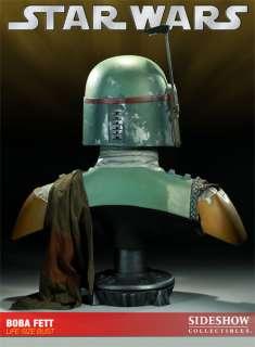 Sideshow Star Wars Boba Fett Life Size Bust Statue